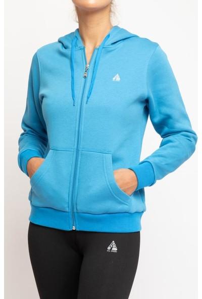 Ral Sport 12100 Kapüşonlu Kadın Sweat K.Mavi