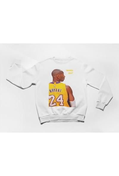 Hediye Mucidi Kobe Bryant Forma Isim ve Numarası Olan Mamba Out Sweatshirt