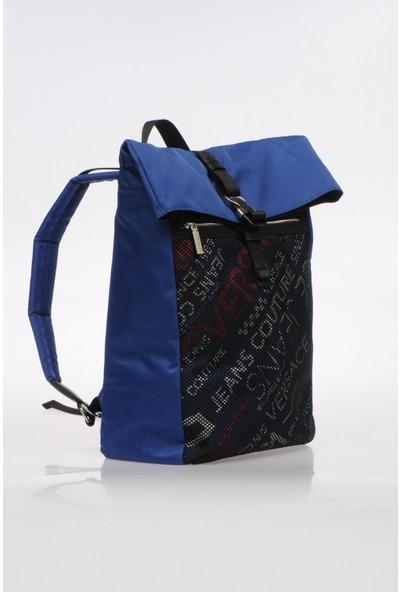Versace E1Ytbb10-202 Mavi Unisex Sırt Çantası