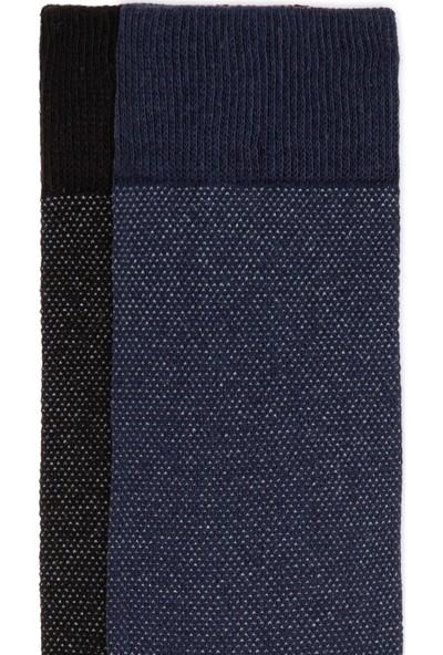 Mavi İkili Uzun Çorap