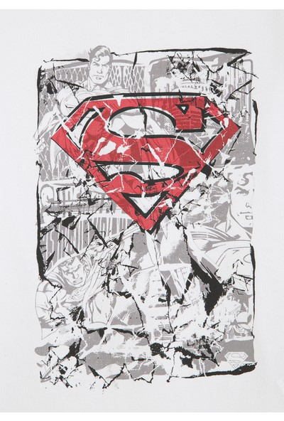 Superman Baskılı Beyaz Tişört 66277620