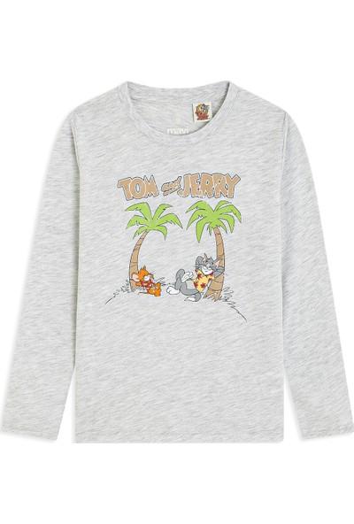 Tom ve Jerry Baskılı Gri Tişört 6628430781