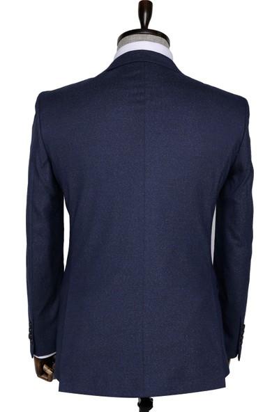 Buenza Firenze Slim fit Tek Yırtmaçlı Mavi Erkek Takım Elbise