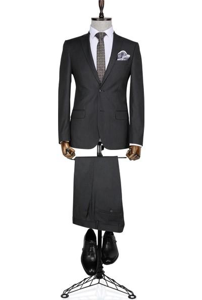 Buenza Klasik Füme Erkek Takım Elbise