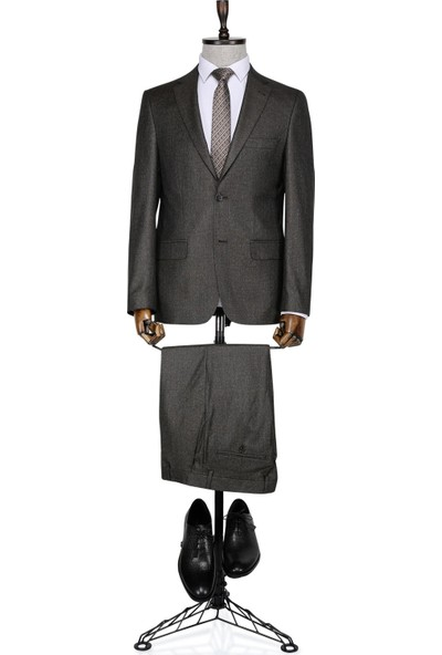Buenza Lukuka Kahverengi Erkek Takım Elbise