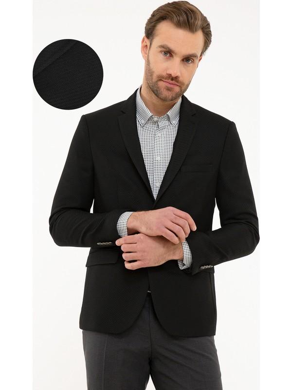 Pierre Cardin Siyah Slim Fit Ceket 50220059-VR046