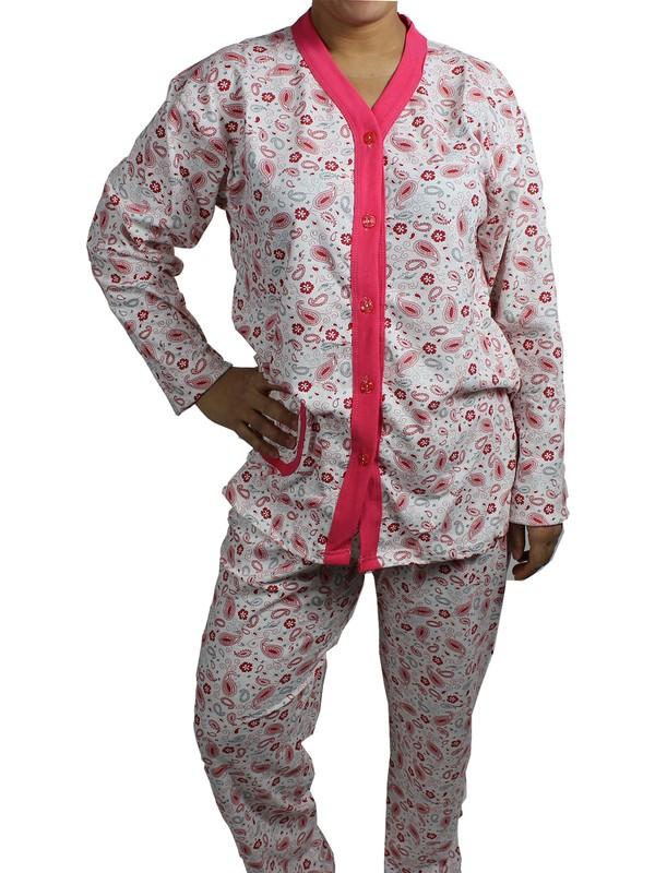 Nazar Pijama Takımı Büyük Beden Fuşya