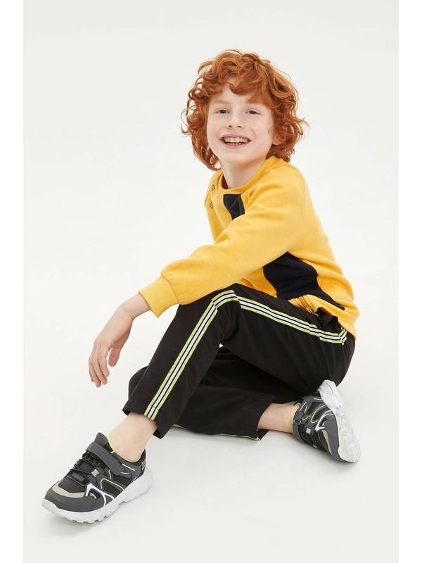 DeFacto Erkek Çocuk Relax Fit Neon Şerit Detaylı Jogger Pantolon