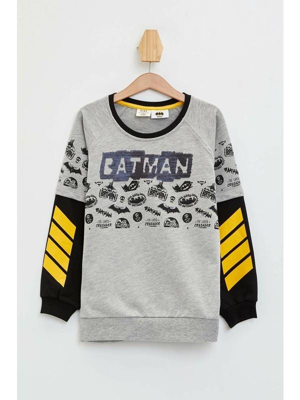 DeFacto Erkek Çocuk Batman Lisanslı Çift Yönlü Pul Payet Sweatshirt M8992A620SP
