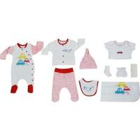 Baby Corner 10'lu Bebek Hastane Çıkış Seti 8130 Kırmızı 0 - 3 Ay