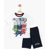 Pijamaskeli Çocuk Şortlu Takım 15558