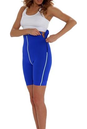 Sportif Neopren Terleme ve Spor Şortu Beyaz - Lacivert XL