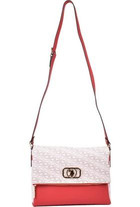 U.s. Polo Assn. Kadın Çapraz Çanta Bej - Kırmızı