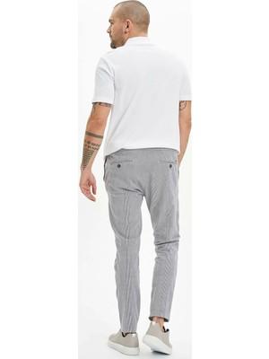 DeFacto Slim Fit Dokuma Kareli Jogger Pantolon M7840AZ20SP