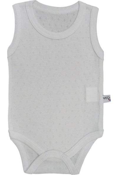 Veo Baby Jakarlı Kız Bebek & Erkek Bebek Atlet Body