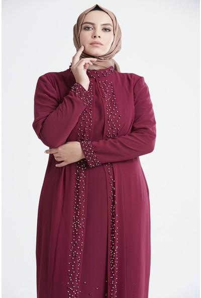 Tuğba & Venn Kadın Boncuklu Abiye Elbise