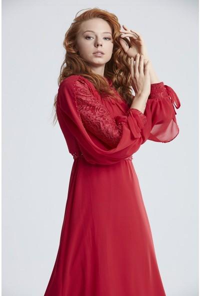 Tuğba & Venn Kadın Kemerli Abiye Elbise
