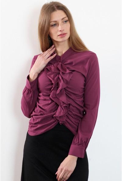 Herry Kadın Mor Bluz 20Dm6811