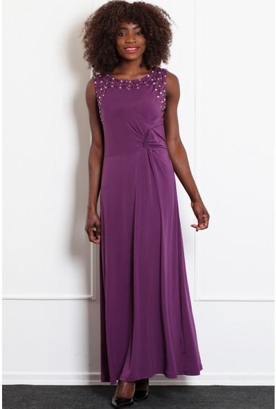 Pinkmark Kadın Mürdüm Elbise