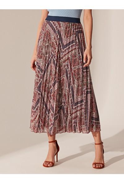 LC Waikiki Kadın Desenli Uzun Etek