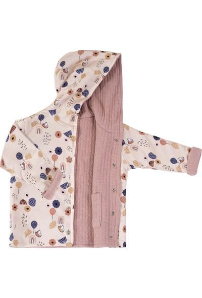 Miela Kids Kapüşonlu Ceket Çift Taraflı 6 - 12 Ay