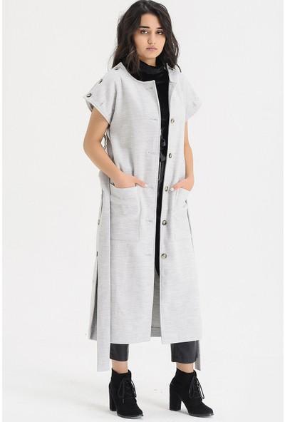 Voichi Designed By Dmt Flor 1 160 cm Boy Kaşe Tasarım Kadın Kaban 34