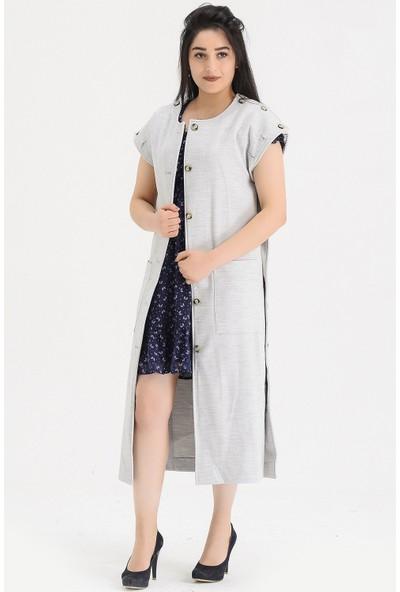 Voichi Designed By Dmt Flor 1 167 cm Boy Kaşe Tasarım Kadın Kaban 34
