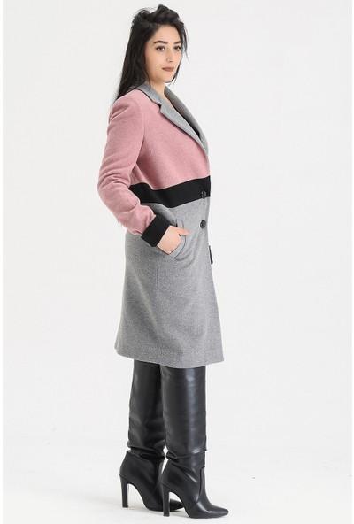 Voichi Designed By Dmt Flor 2 167 cm Boy Kaşe Tasarım Kadın Kaban 34
