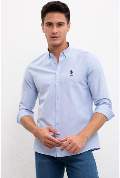 U.S. Polo Assn. Erkek Dokuma Gömlek 50226811-VR003
