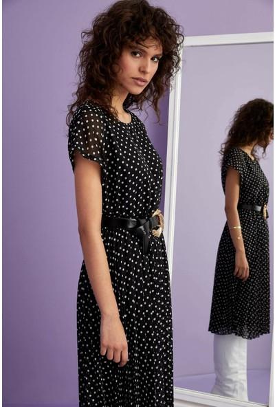 DeFacto Puantiye Desenli Elbise M9183AZ20SP