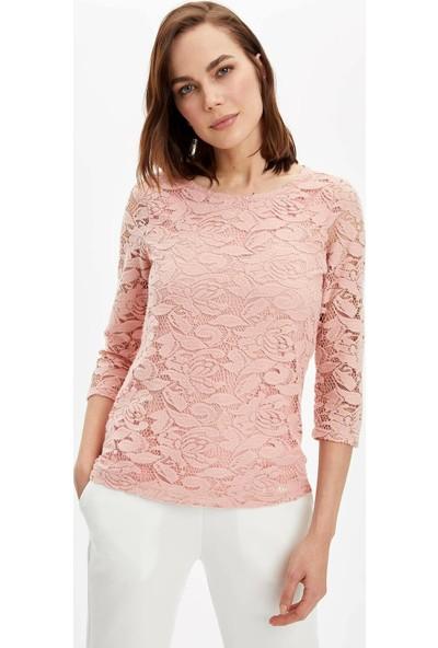 DeFacto Kadın Regular Fit Uzun Kollu Bluz