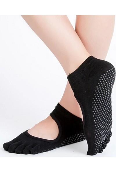 Lovyco Çorap Yoga Pilates Dans Aktivite Çorabı Parmaklı Siyah