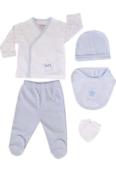 Ciccim 5'li Bebek Hastane Çıkış Seti 4295 Mavi 0 - 3 Ay