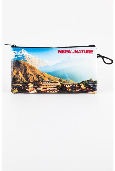 Dünyadan Hediyeler Nepal Temalı Deri Makyaj Çantası