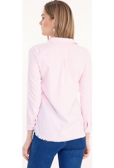 FullaModa Kadın Altı Püsküllü Gömlek