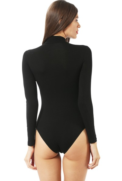 Özkan Bayan Çıtçıtlı Body 0614 Siyah
