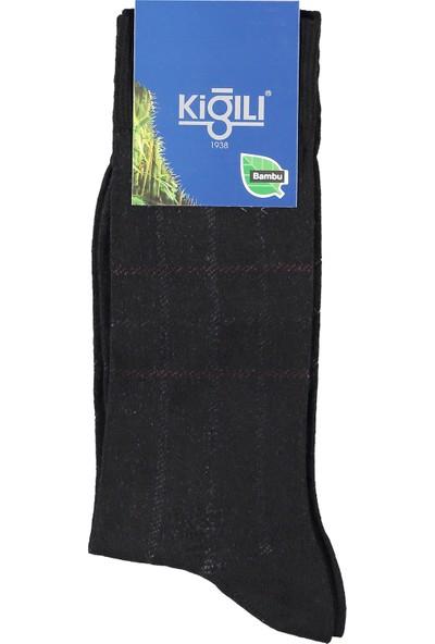 Kiğılı Erkek Bambu Desenli Çorap