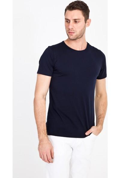 Kiğılı Erkek Bisiklet Yaka Slim Fit T-Shirt