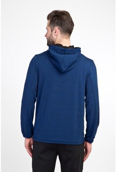 Kiğılı Erkek Kapüşonlu Fermuarlı Slim Fit Sweatshirt