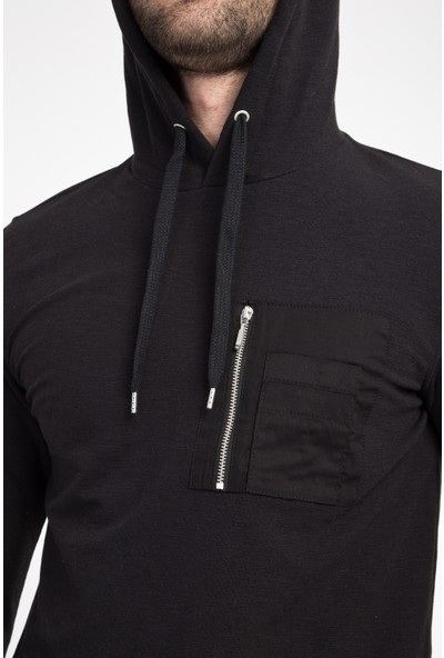 Kiğılı Erkek Kapüşonlu Slim Fit Sweatshirt
