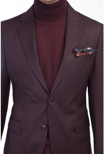 Kiğılı Erkek Slim Fit Kuşgözü Takım Elbise