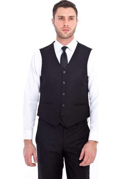 Kiğılı Erkek Slim Fit Yelekli Desenli Takım Elbise
