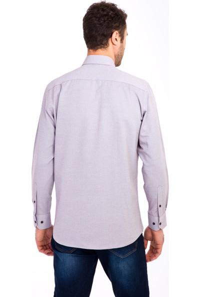 Kiğılı Erkek Uzun Kol Desenli Klasik Gömlek