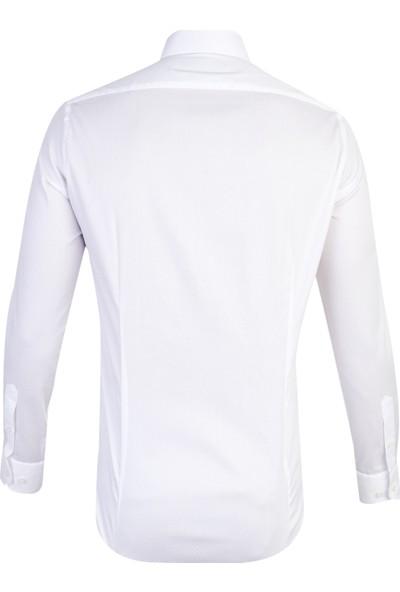 Kiğılı Erkek Uzun Kol Desenli Slim Fit Gömlek