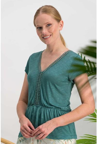 Arnetta Dandelion Cam Yeşili Kadın Kapri Takım