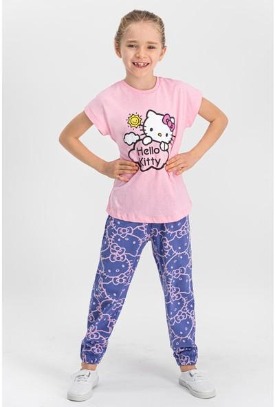 Hello Kitty Lisanslı Açık Pembe Kız Çocuk Pijama Takımı