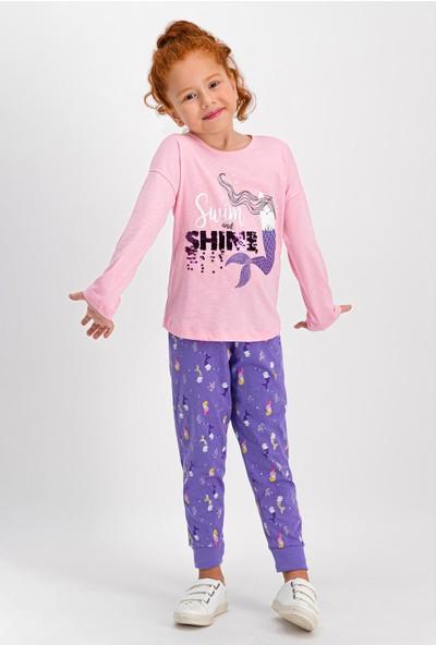 RolyPoly Swim Shine Açık Pembe Kız Çocuk Pijama Takımı