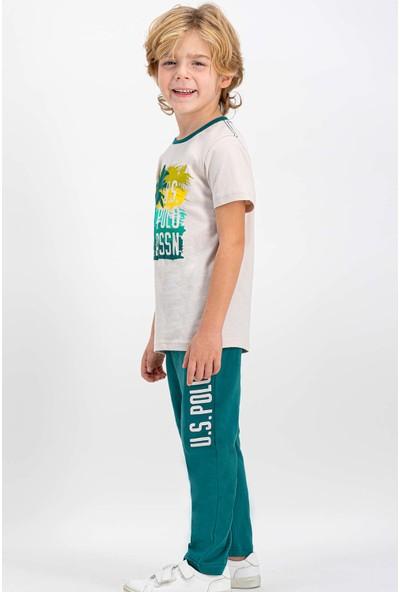 U.S. Polo Assn Lisanslı Taş Erkek Çocuk Pijama Takımı