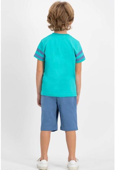 U.S. Polo Assn Lisanslı Aqua Erkek Çocuk Bermuda Takım
