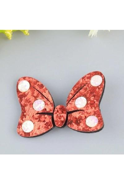 Şirin Şeyler Butiği Fiyonk Toka Mini Mouse Kırmızı - Beyaz